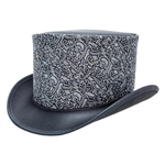 Gent Leather Top Hat - Silver,Gent Leather Top Hat