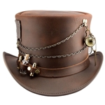Trinket Steampunk Top Hat,Trinket Leather Top Hat