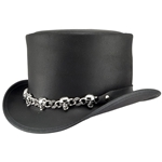 El Dorado Top Hat 5 Skull Band - Black