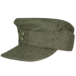German M43 Waffen SS Wool Field Cap EM Enlisted - WWII Repro