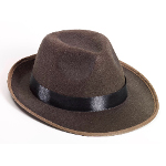 Brown Fedora Adult Hat 100-214424
