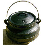 Flat Medieval Cooking Pot 10 Qt CP-82