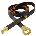 Viking Belt with studs - Leather