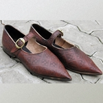 Womens 14th 15th Century Low Shoes LS-3001