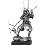 Samurai with Naginata Sculpture MESA005