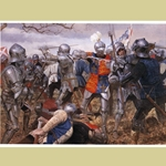 The Battle of Wakefield Medieval Art Print WA-17