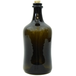 Large Rum Bottle - Hand Blown Glass