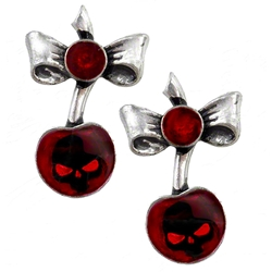 Black Cherry Stud Earrings Peweter Alchemy ULFE20