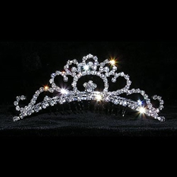 Crystal Bloom Tiara Comb 172-15125