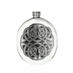 Annwn Wedge Pewter Flask 6 Ounces