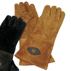 Brown Suede Gloves - Large