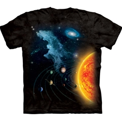 Solar System Adult T-Shirt 3X-Large