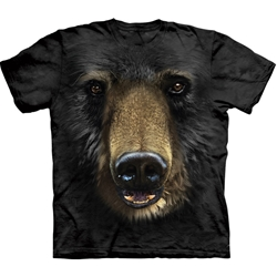 Black Bear Face Adult 2X-Large T-Shirt 43-1032450