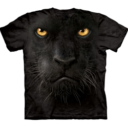 Black Panther Face Adult 2X-Large T-Shirt 43-1032460