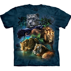 Big Cats Jungle Adult Plus Size T-Shirt 43-1033150