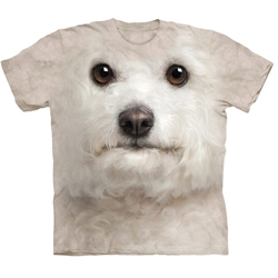 Bichon Frise Face Adult T-Shirt 43-1035190