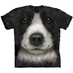 Border Collie Face Adult 2X-Large T-Shirt