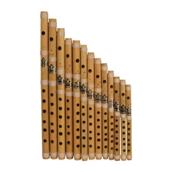 Bamboo Flute Set, Cross Blown