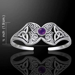 Celtic Silver Butterfly Bangle 52-TBG762