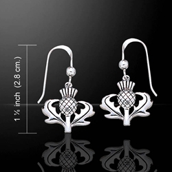 Celtic Thistle Silver Earrings 52-TE2872