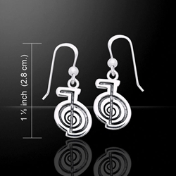 Reiki Spiral Silver Earrings 52-TER478