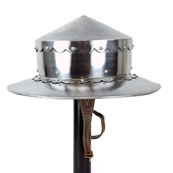 14th Century Kettle Hat - 16 Gauge Steel