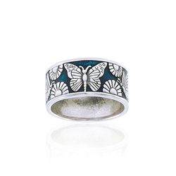 Blue Butterfly Ring TRI104